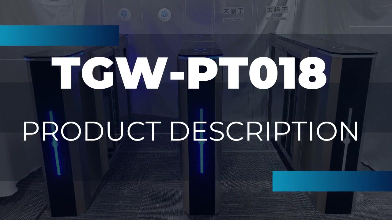 Hot  professional high speed full arm sliding turnstile gate of various access control TGW-PT018
