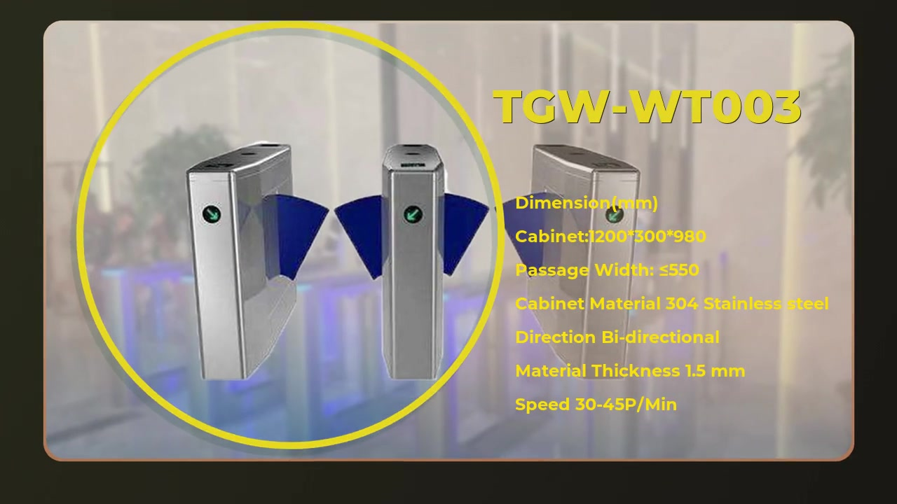 TGW Flag Barrier Gate Normal type instock for entrance and exit of metro station