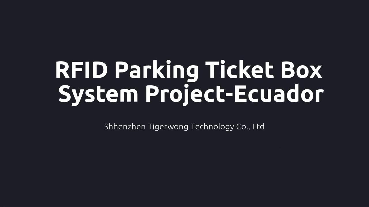 TGW-RFID పార్కింగ్ టికెట్ డిస్పెన్సర్ వ్యవస్థ కేస్-ఈక్వెడార్