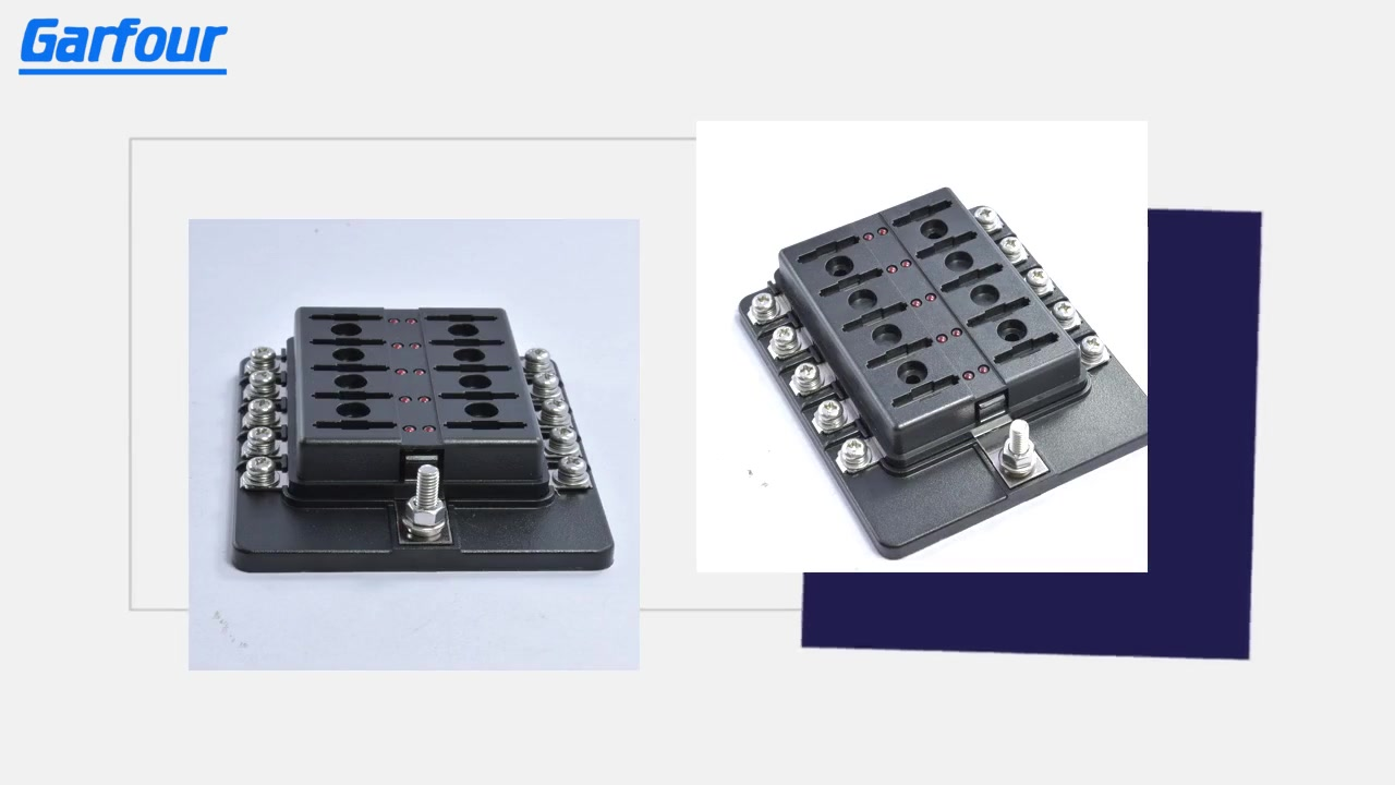 Customized 10 Way Fuse Box With Led Light Multiway Auto Blade Fuse Box manufacturers FromChina