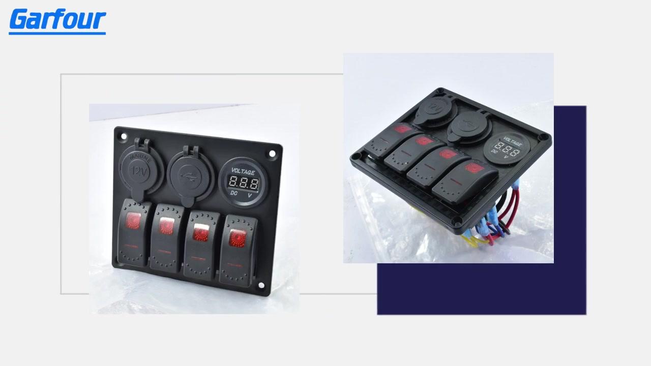 Wholesale Aluminum Rocker Switch Panel L4S3 withgoodprice-JiaFu