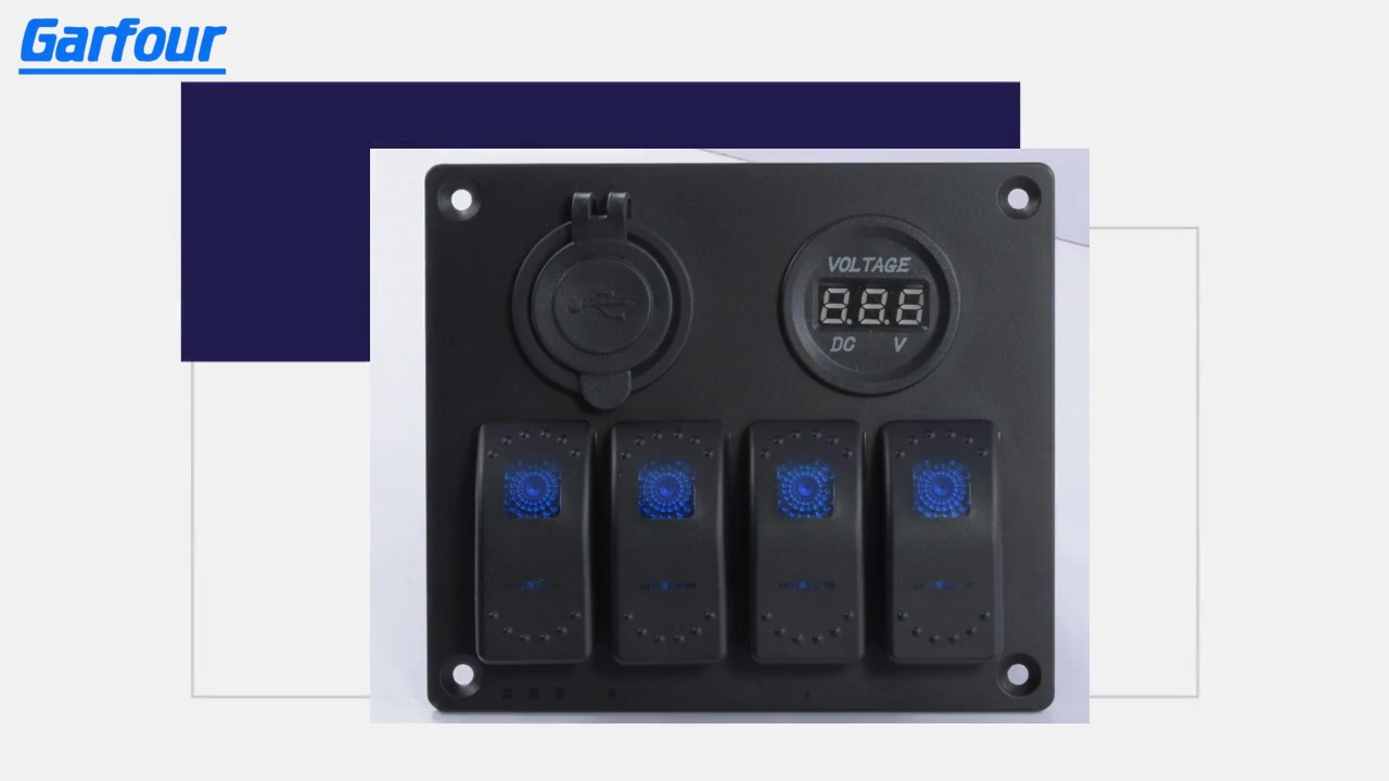 Best Aluminum Rocker Switch Panel L4S2 Supplier