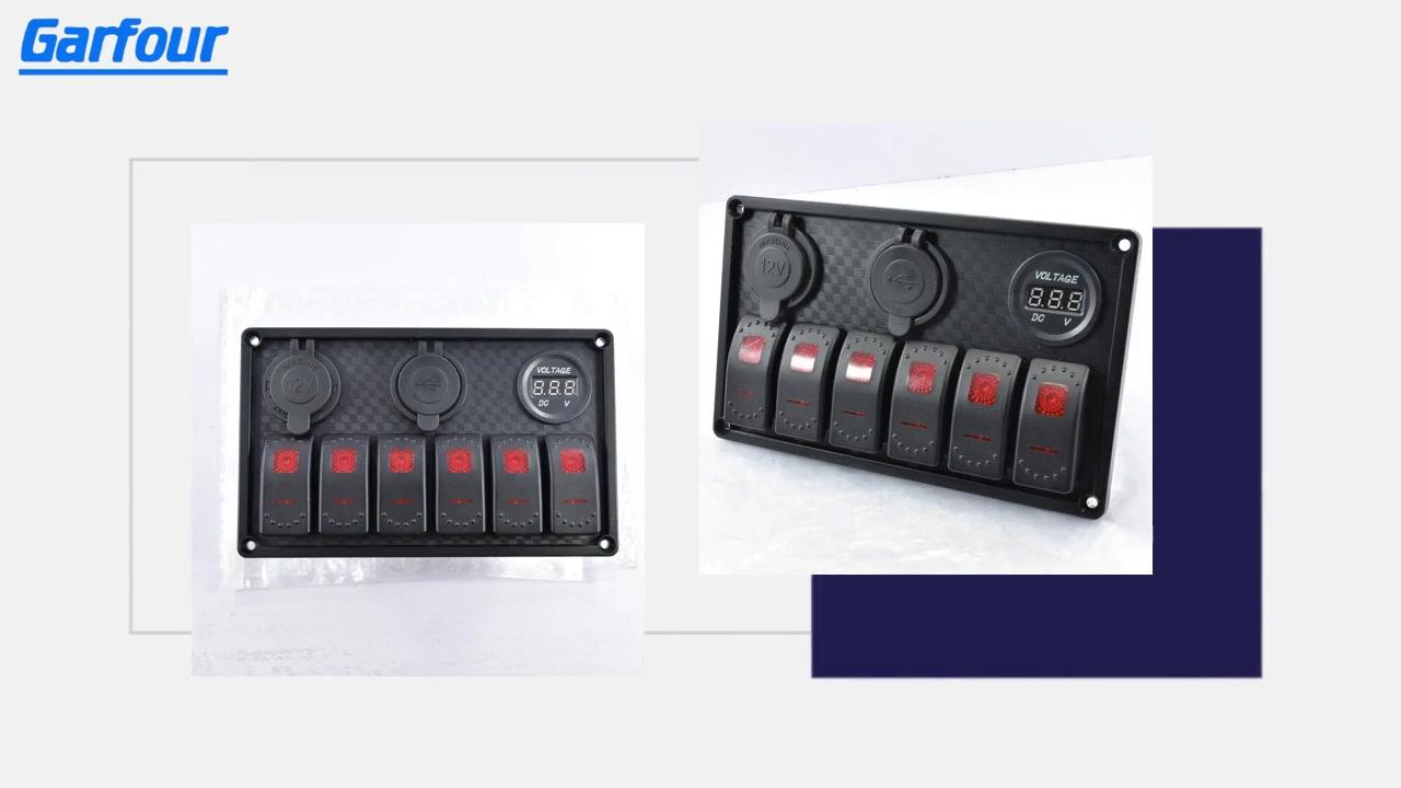 Best Aluminum Rocker Switch Panel L6S3 Supplier