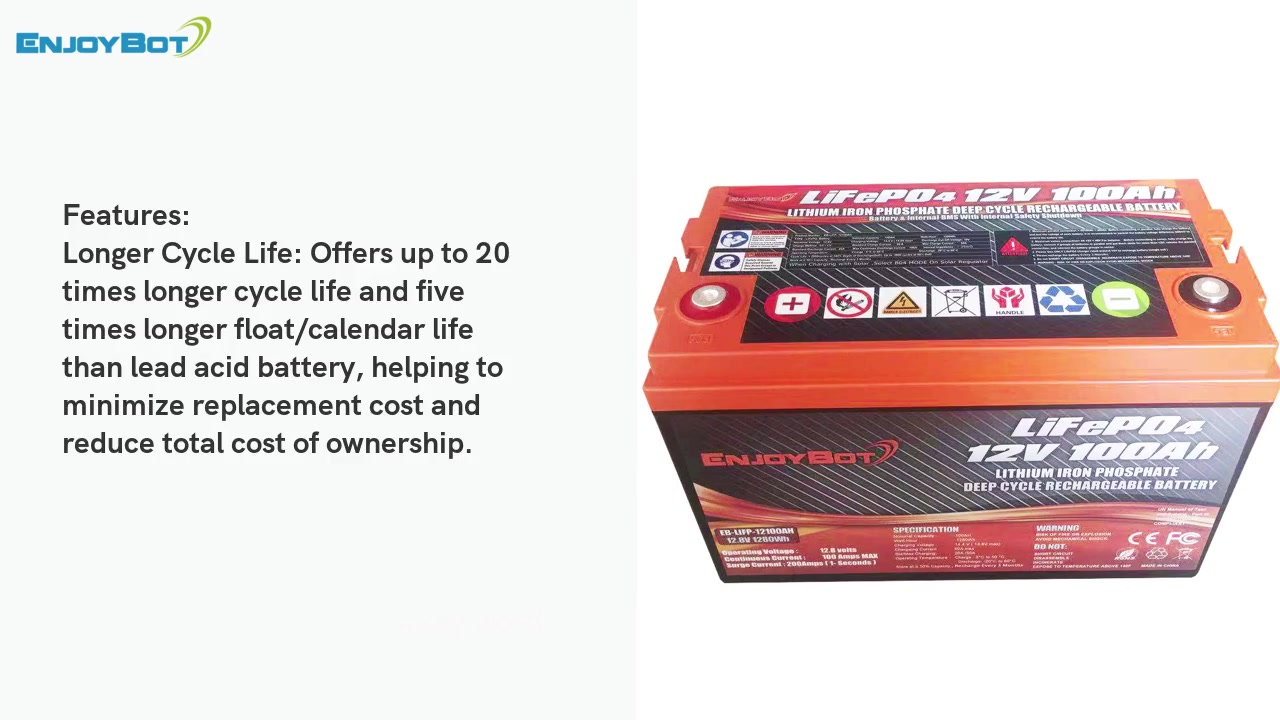 Grenergy Specification of LiFePO4 12.8V 100Ah