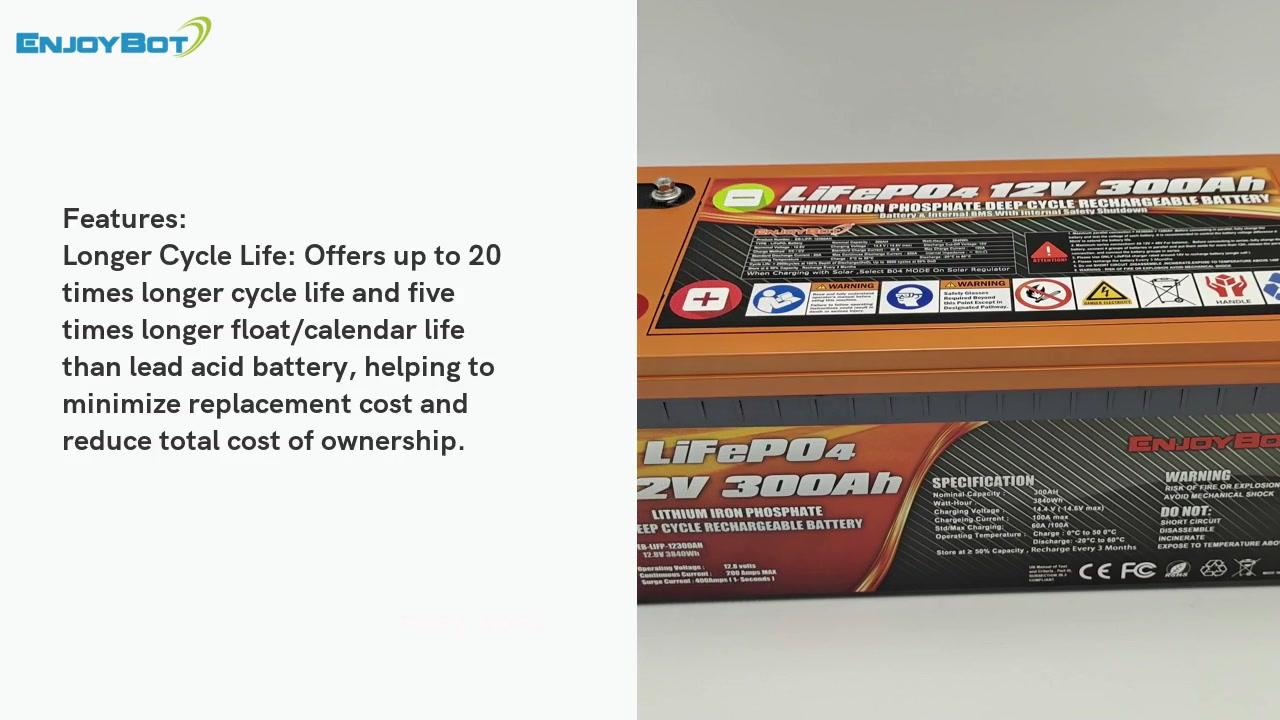12V 300AH LIFEPO4 Batterie