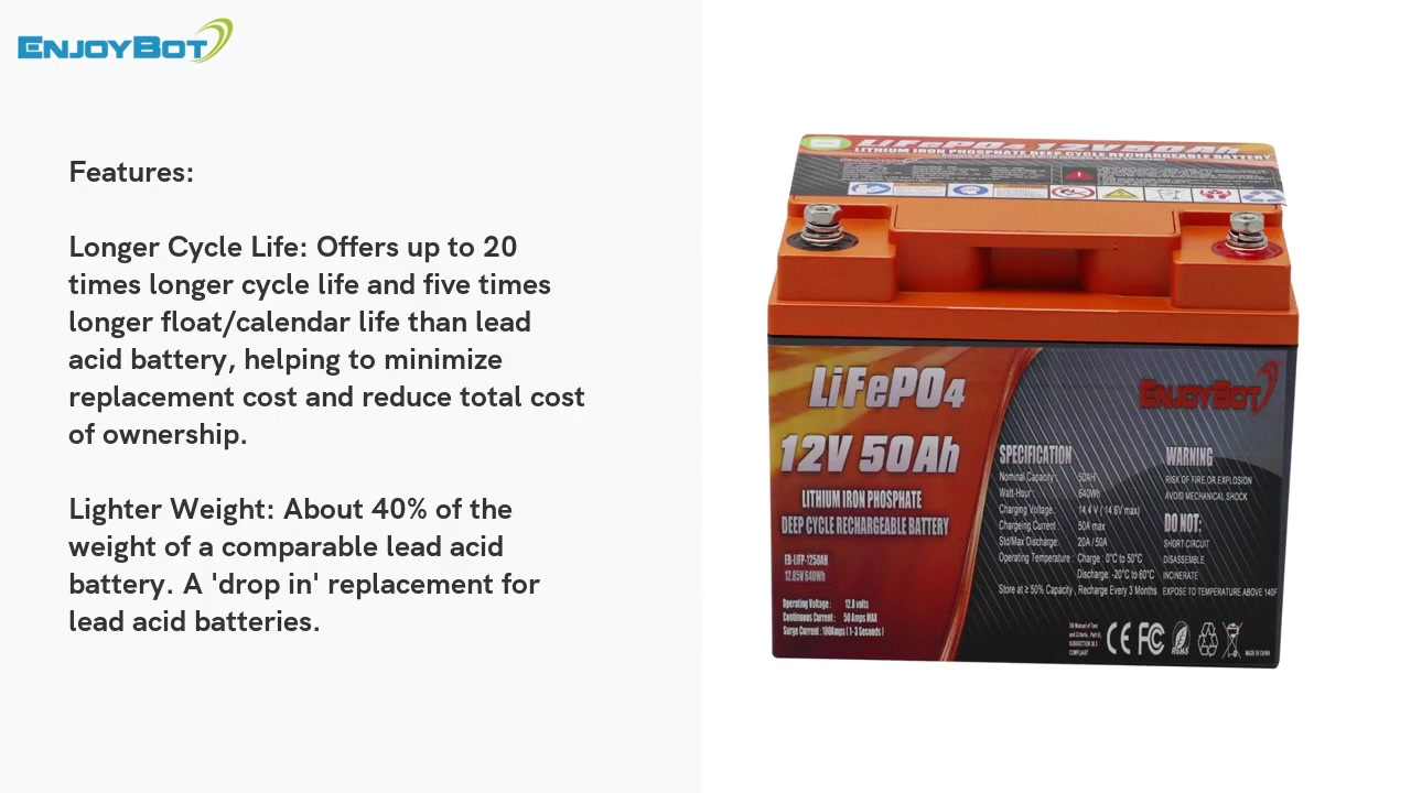 12V 50AH lifepo4 battery