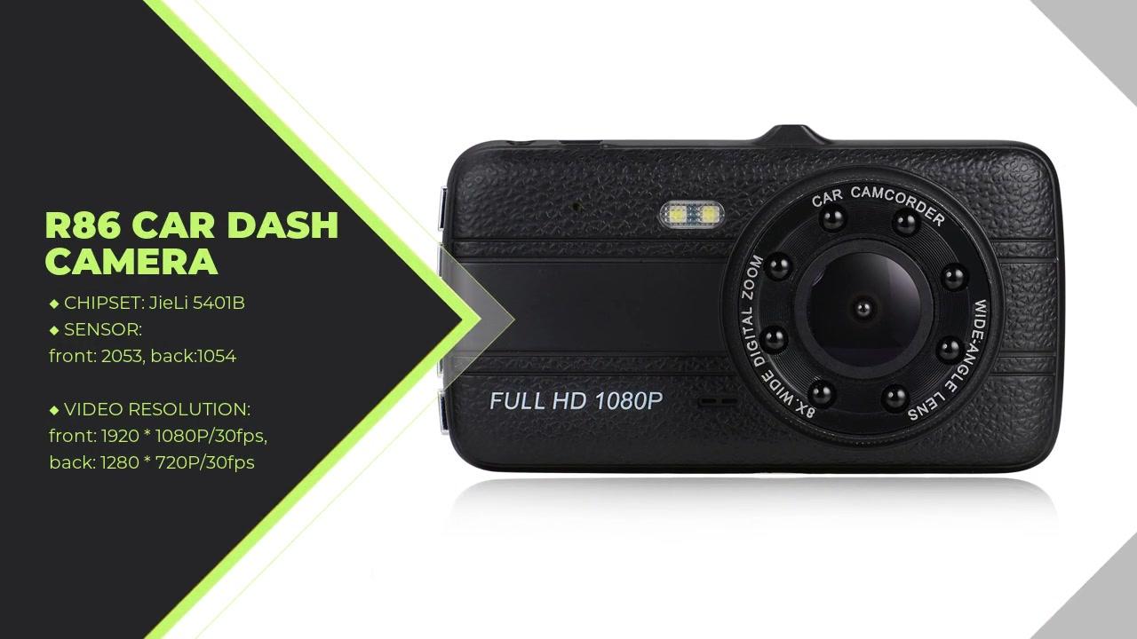 Car Recording Camera 1080P Front And 720P Rear Camera