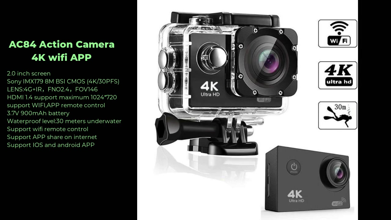 Best AC84 Action Camera 4K Factory Price -