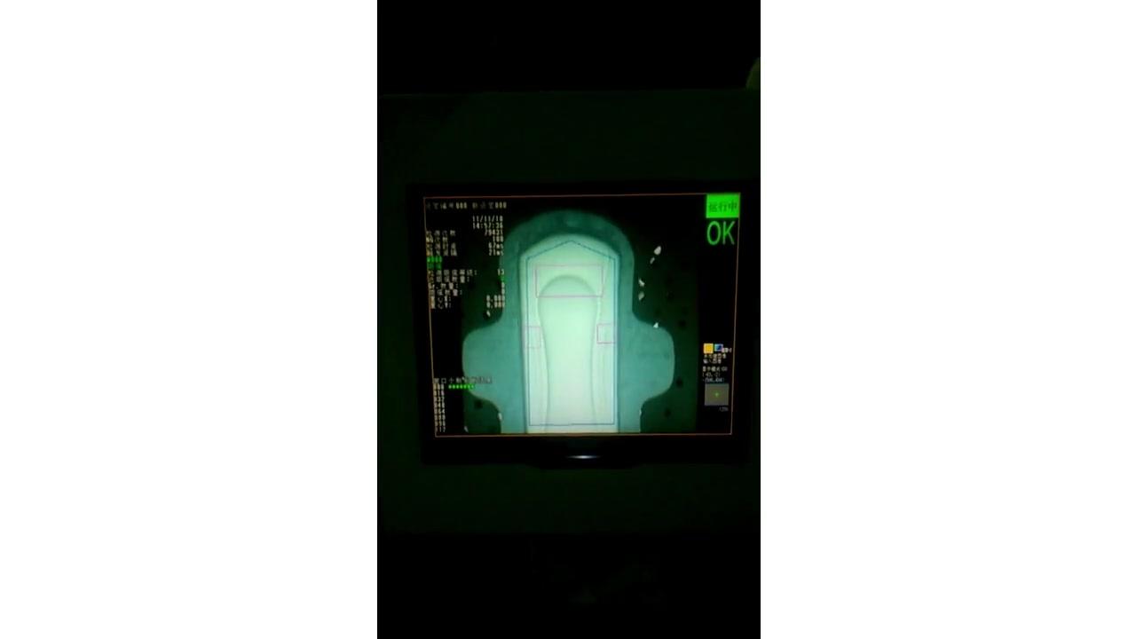 Equipo de inspección visual para la producción de compresas sanitarias