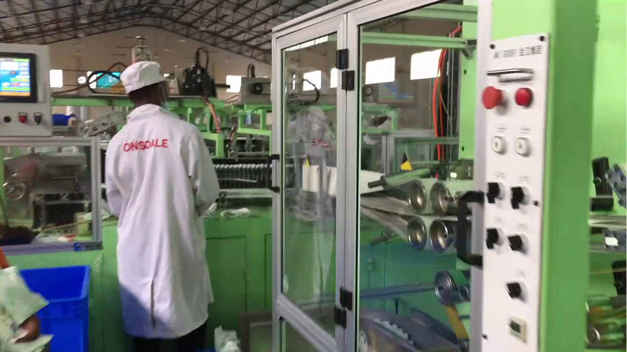 JWC Diaper production line for customers in Zimbabwe
