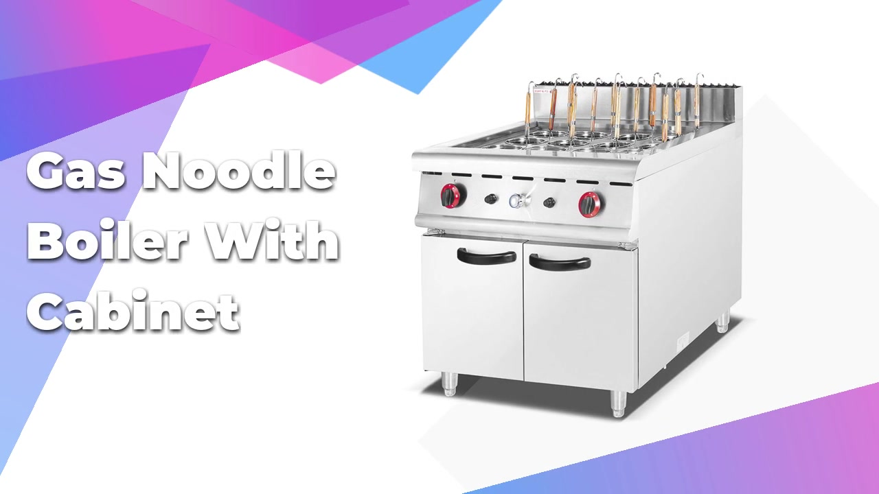 Commercial Stainless Steel Gas/Electric Noodle Cooker, Pasta Cooker With Cabinet