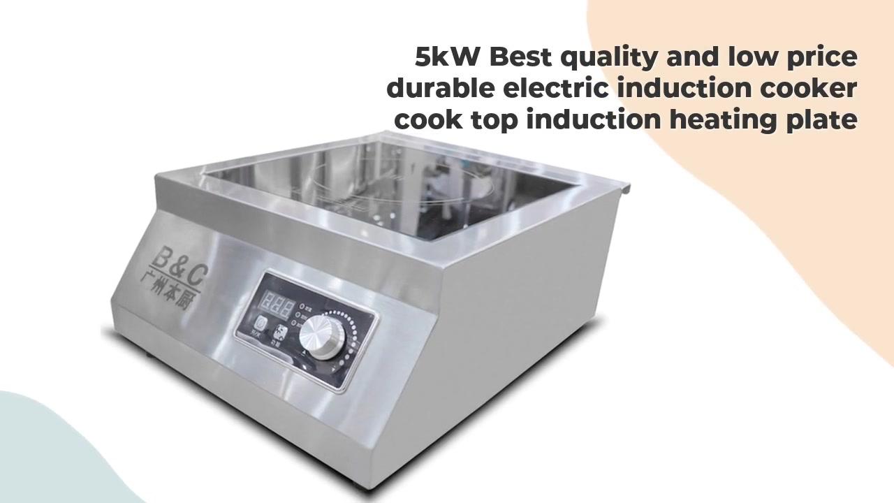 Placa de calentamiento por inducción eléctrica durable de la tapa del cocinero de la cocina de inducción de la mejor calidad y del precio bajo de 5kW