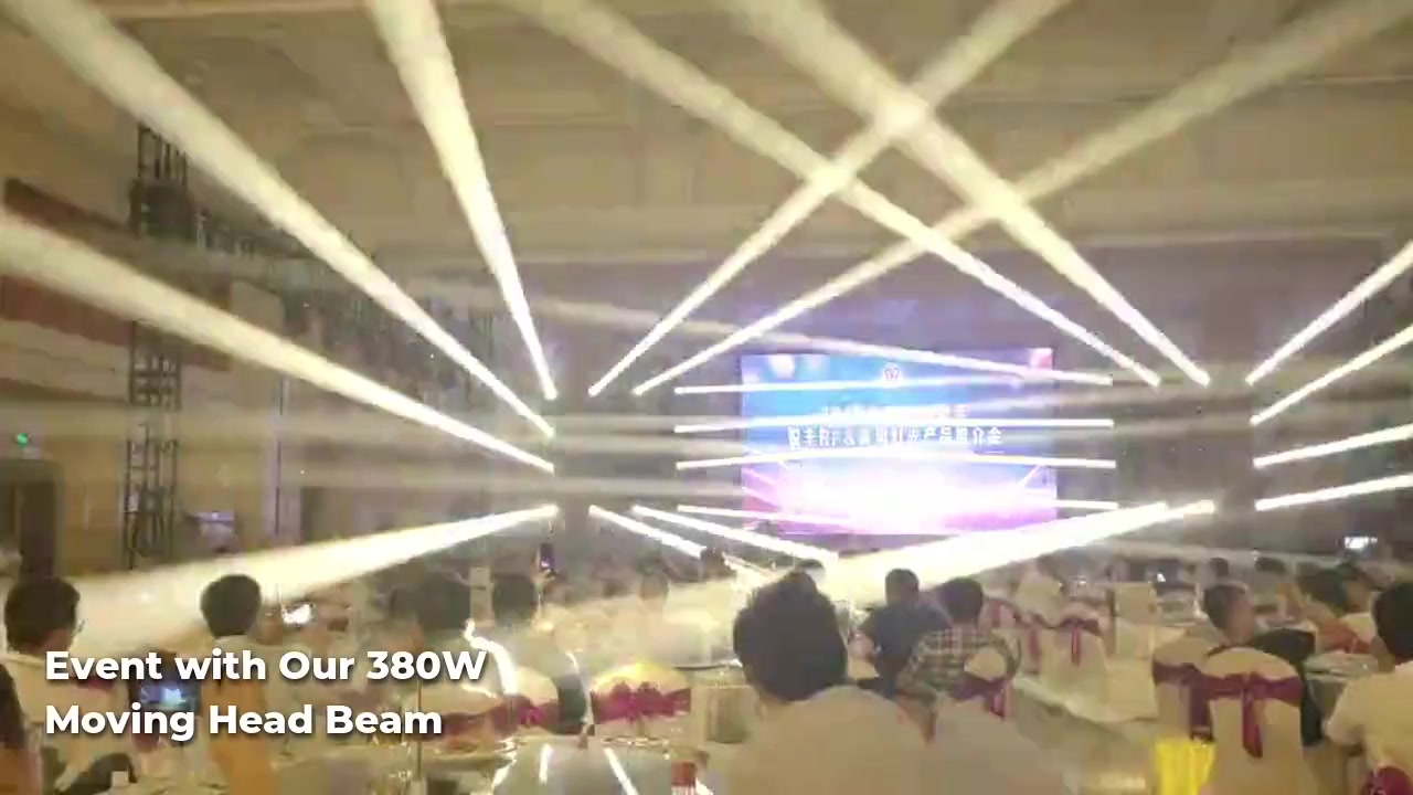 The application of 380W moving head beam