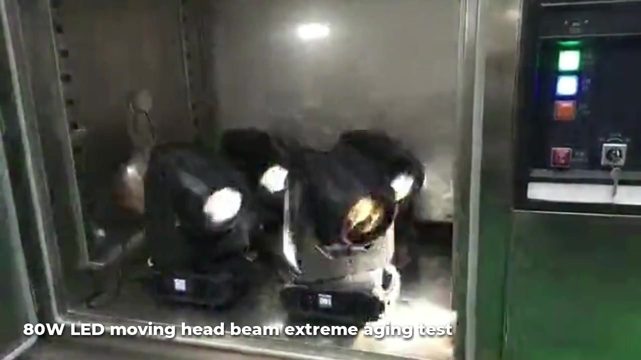 Moving head beam extreme aging test