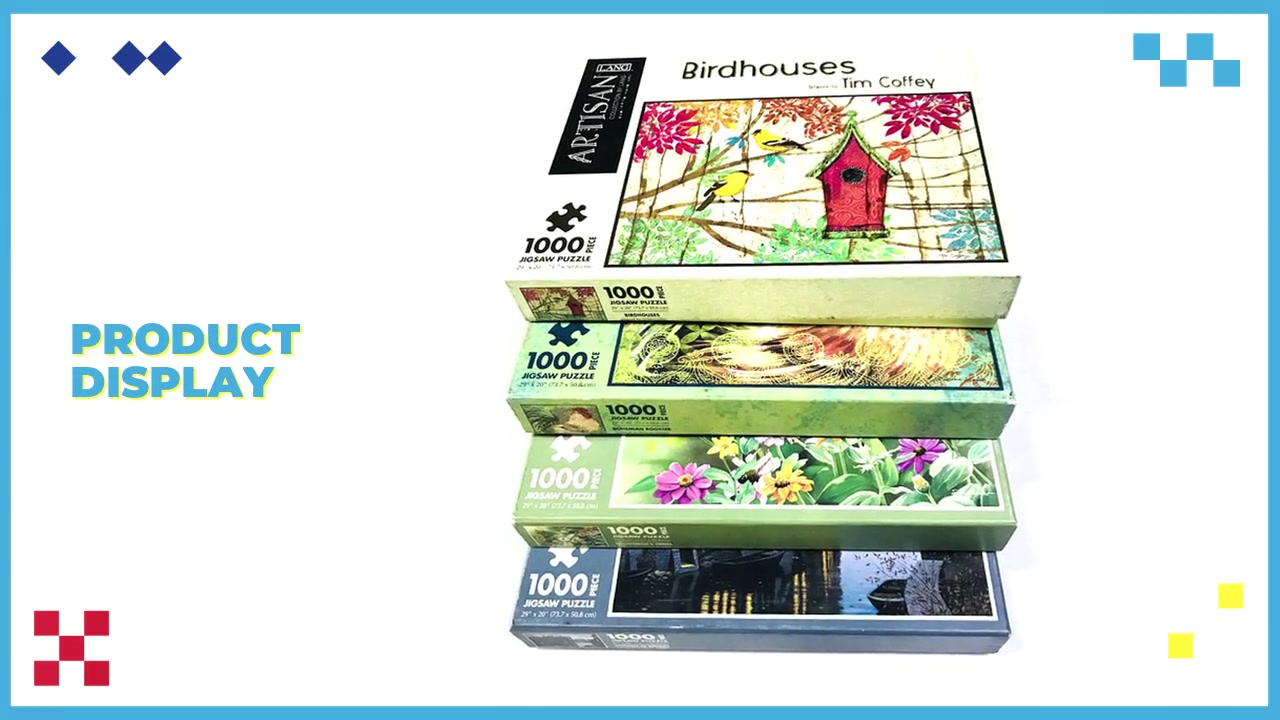 Best Quality Jigsaw Puzzle Customized Adults Puzzle Games 1000pcs Jigsaw Puzzle Factory