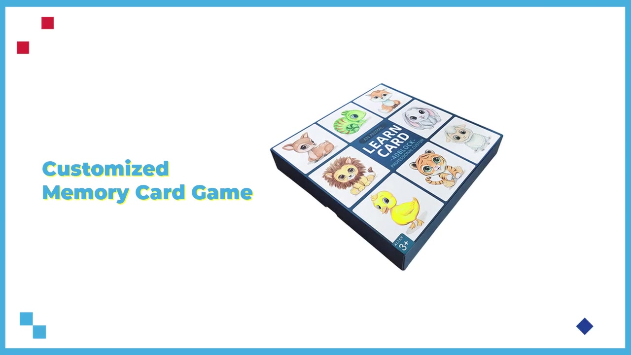 Custom Learning Flashcards Math Flash Cards Memory Games for Babies Paper Playing Cards Deck Custom Size(57*87mm,63*88mm Etc)