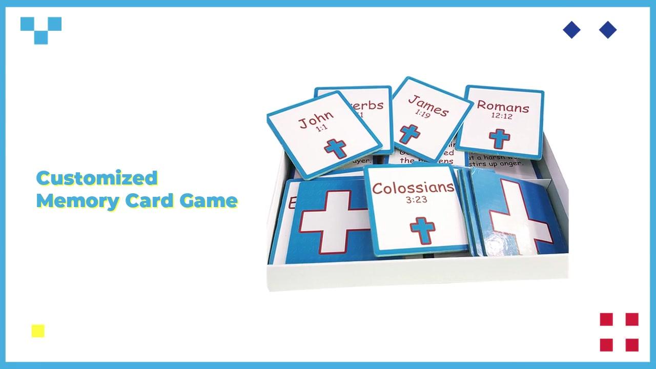 High Quality Educational Vocabulary Math Cards Memory Teaching Card Brain Training Flush Card Games Customized