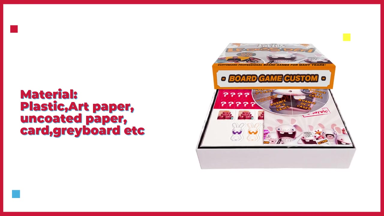 High Quality Maker Customied Board Games OEM Kids Board Games, Family Adult Board Games, Couples Board Game Box Printing