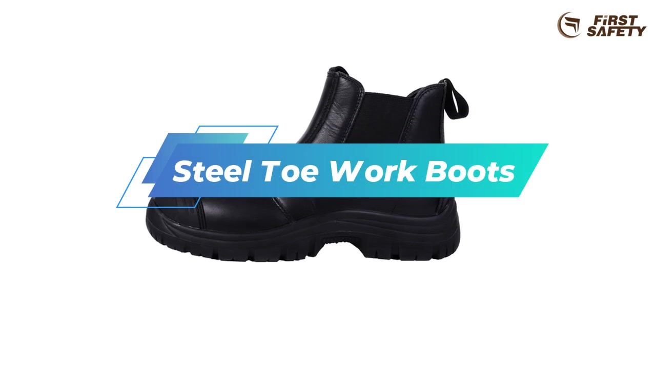 Work Safety Boots Breathable, Slip Resistant, Quick Dry, Comfortable Pull-On Leather Boots For Work