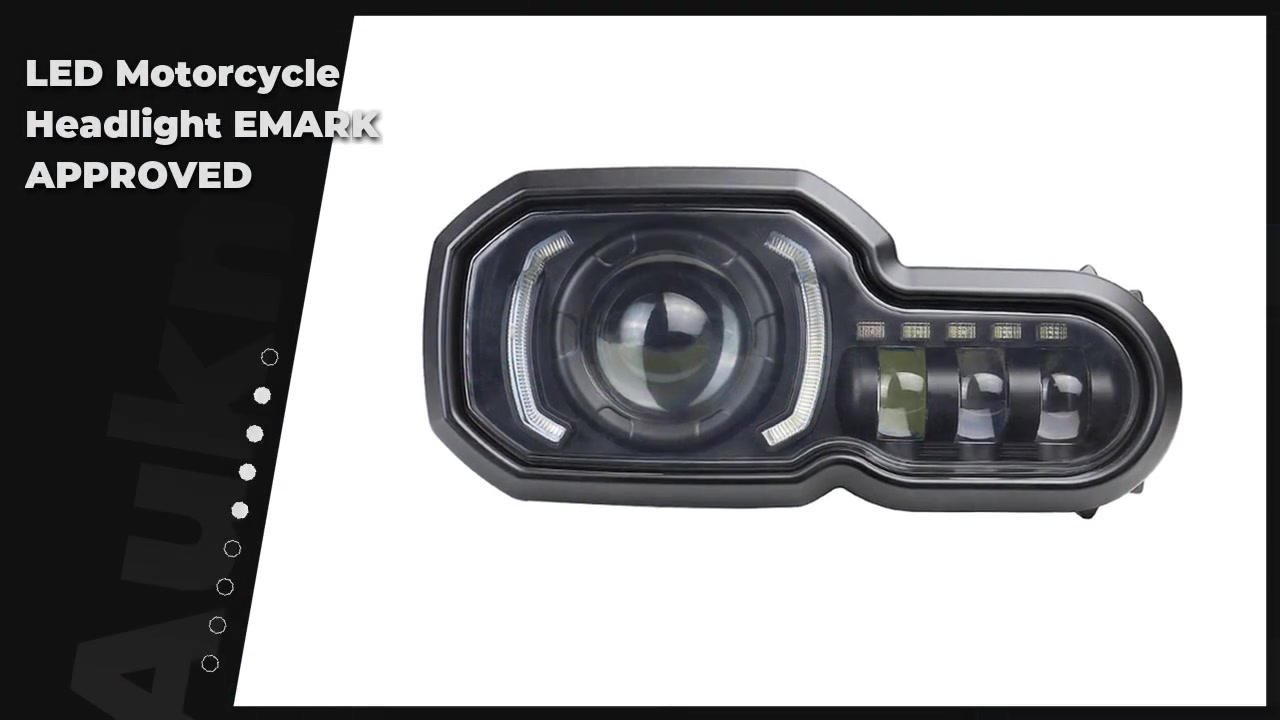 LED Motorcycle Headlight EMARK APPROVED- News