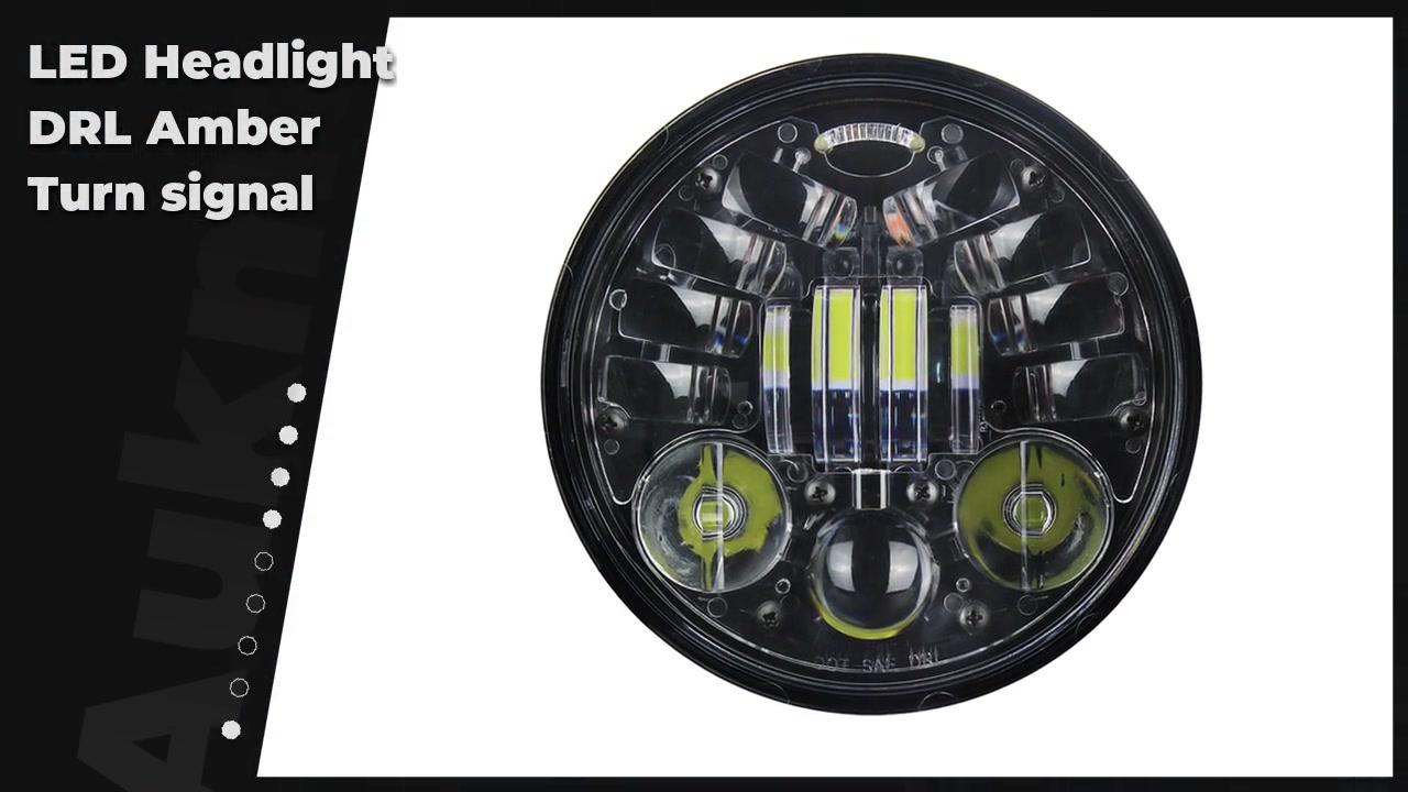 """الصين مصنعين 5 3/4 """"5.75 بوصة جولة الصمام المصباح drl العنبر بدوره إشارة للدراجات النارية"""