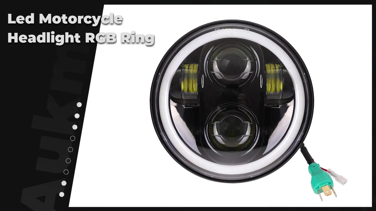 Best 5-3/4 5.75inch Led Motorcycle Headlight RGB Ring Projector White Halo For Dyna Sportster Motorcycle