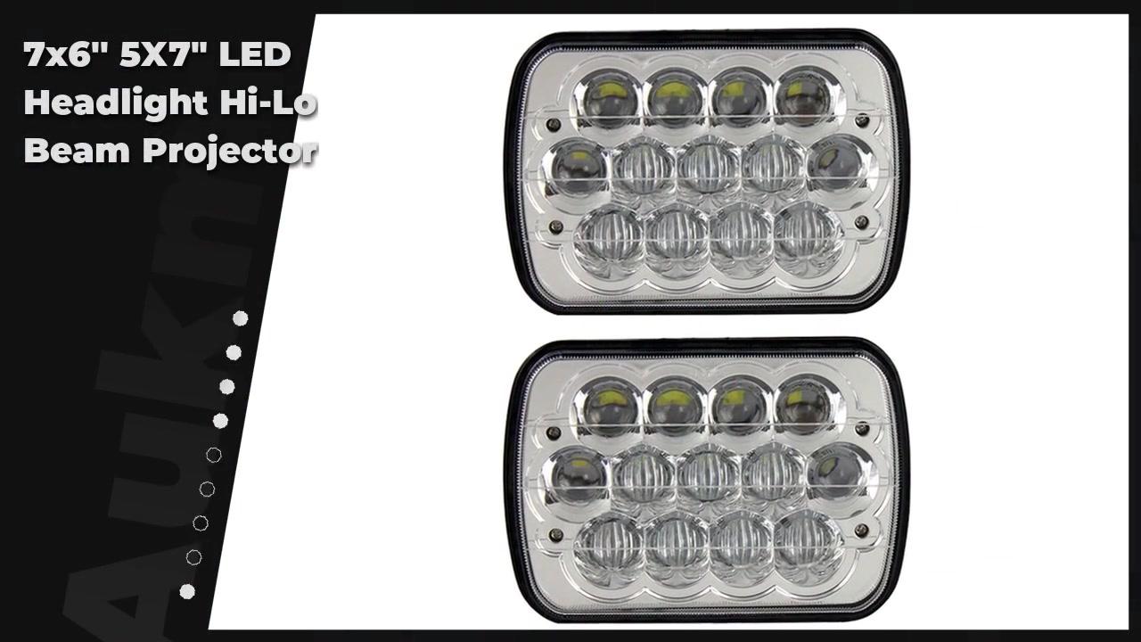 "7x6'' 5X7"" LED Headlight Hi-Lo Beam Projector For Cherokee XJ YJ"