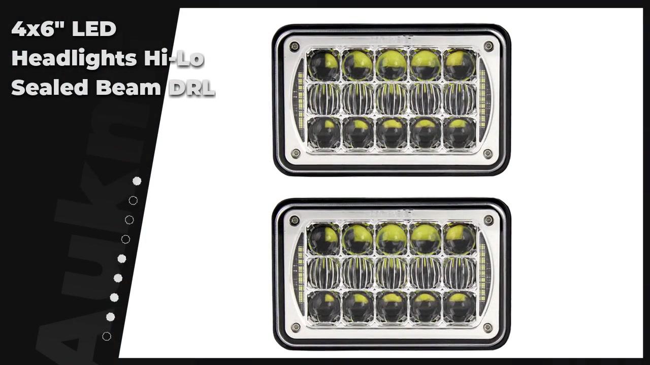 "4x6 ""Fari a LED Hi-Lo Sigillato BEAM DRL per Peterbilt KW FORD SONDA CHEVY GMC"