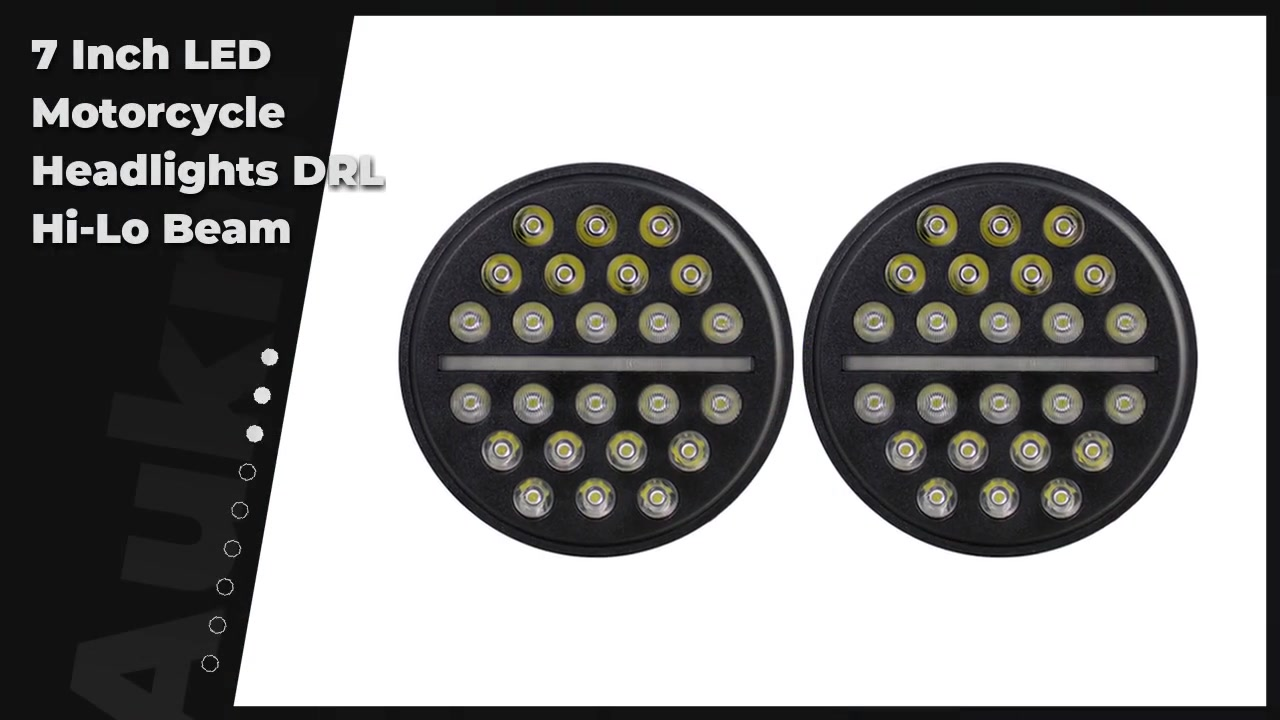 7 Inch LED Motorcycle Headlights DRL Hi-Lo Beam Used for Jeep Wrangler JK Niva Lada Offroad 4x4 UAZ