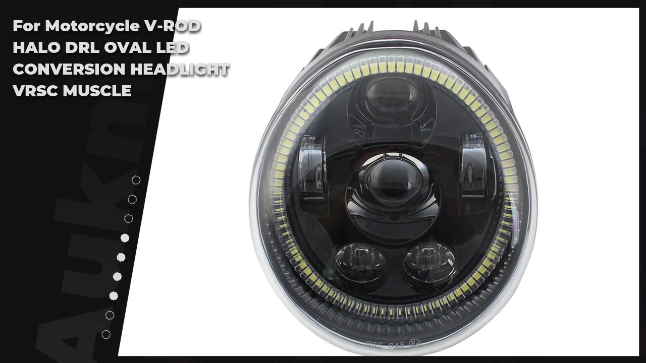 For Motorcycle V-ROD HALO DRL OVAL LED CONVERSION HEADLIGHT VRSC MUSCLE