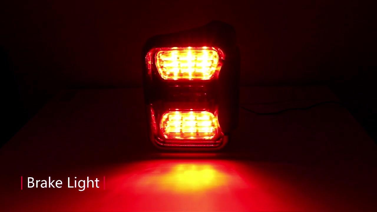 يصلح ل JEEP Gladiator JT 2020 2021 LED الذيل ضوء الفرامل بدوره إشارات مصابيح الولايات المتحدة الأمريكية - Aukma