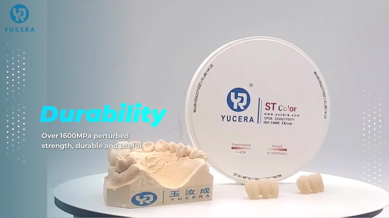 Implant Dental CAD / CAM в предварително затворен блок CEREC за куб цирконий блок стоматология в st color zirconia блок