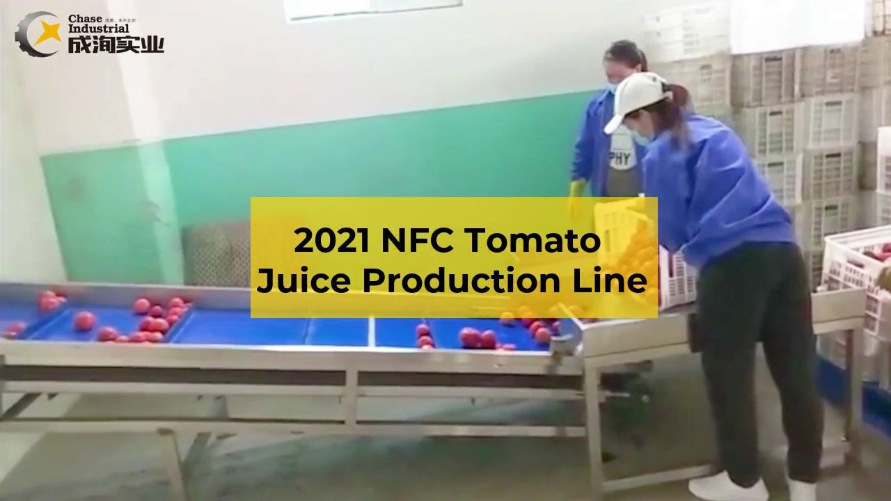 NFC Tomato dây chuyền sản xuất nước trái cây - thiết bị chạy thử