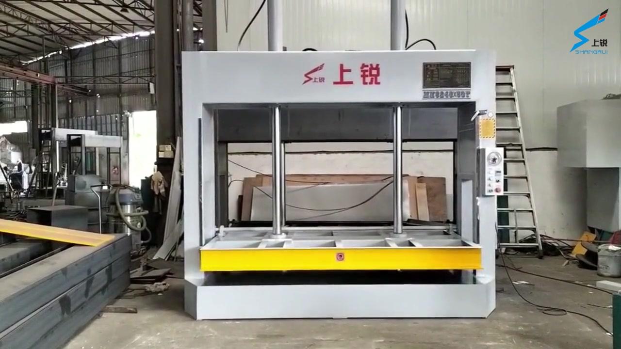 Máquina de prensa fría personalizada utilizada en puerta de madera fábrica
