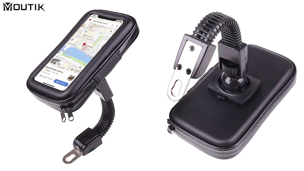 Motorkerékpár visszapillantó tükör vízálló telefon tartó