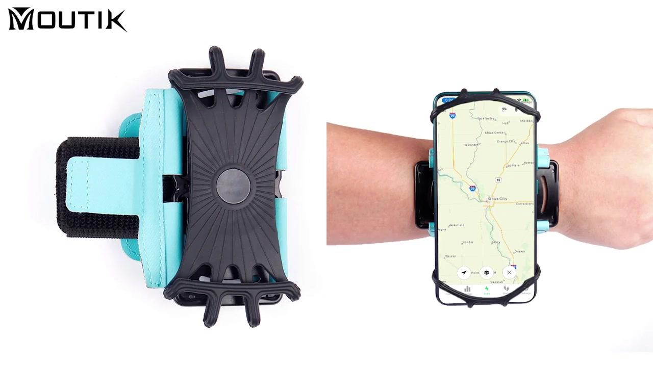2021 Support de sport de course portable Support de téléphone en silicone pour brassard rotatif à 180 degrés
