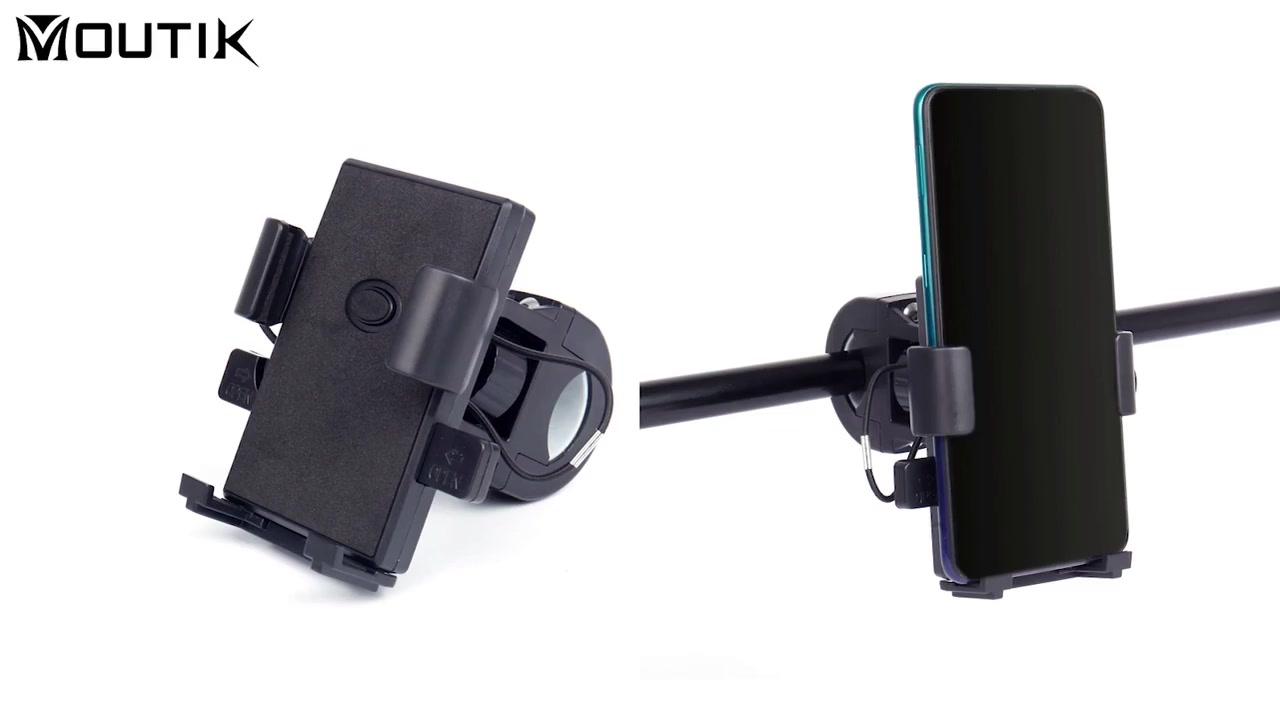 360 Degree Rotation Mobile Phone Holder bakeng sa Bike Handlebar Phone Holder Universal Universal Flexible Bike Phone Holder