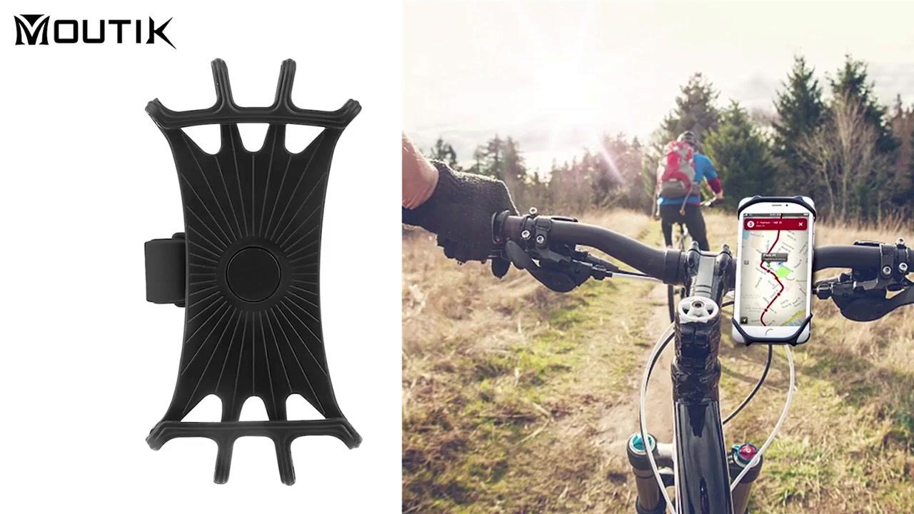 Geriausiai parduodamas silikono dviračio dviračio telefono laikiklio laikiklis universalus reguliuojamas motociklo vairo tvirtinimas
