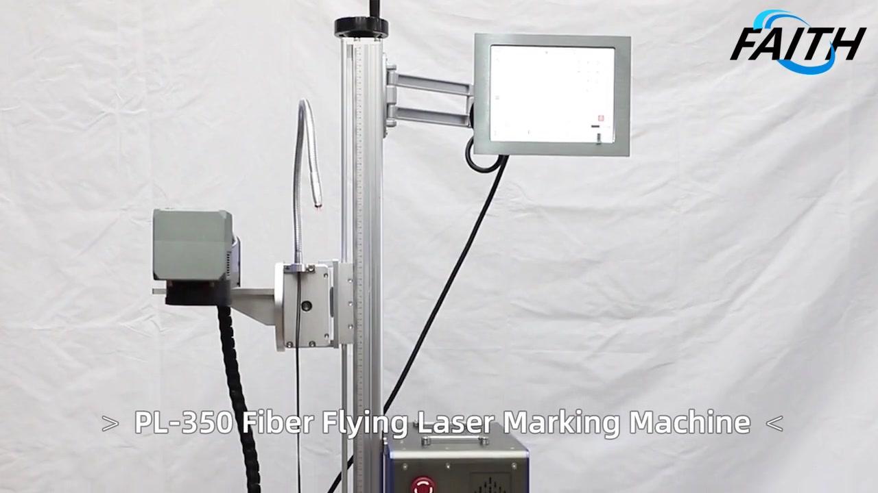 Fuente láser opcional RAYCUS MAX IPG CLEFINE SOFTWARE SISTEMA OPERATIVO PL-350 Máquina de grabado de marcas láser de fibra voladora | Fe