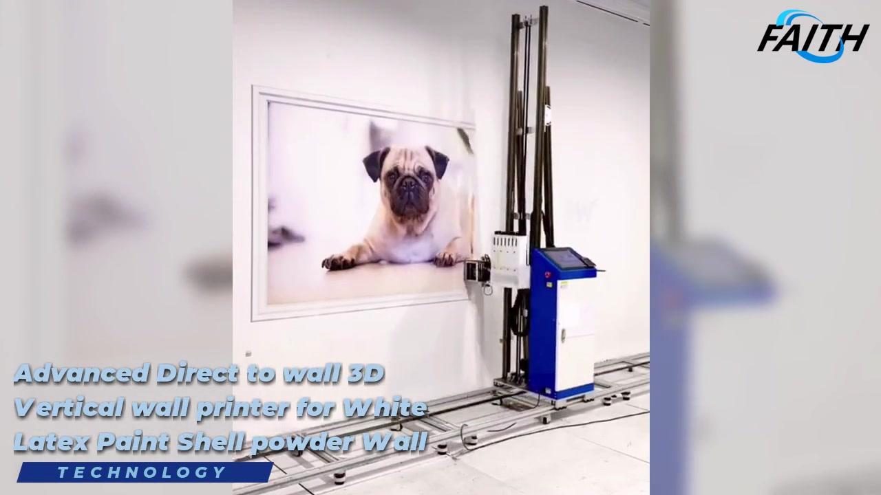 Вера Высокое Качество 3D Автоматическое Прямое в Настенный Принтер Структурная Печатная машина | Вера