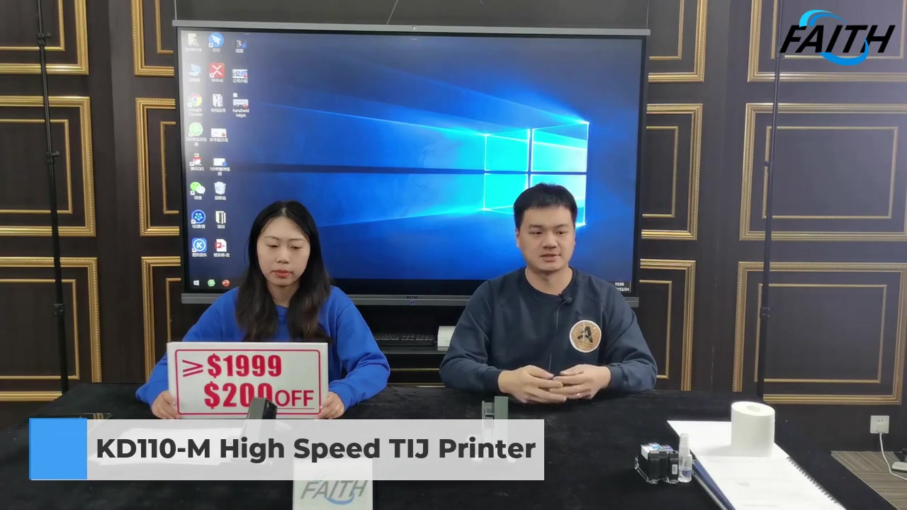 "Faith 15 languages Handheld Portable Inkjet Printer 12.7/25.4mm Print Height 5"" Touch Screen Intelligent Inkjet Printer| Faith"