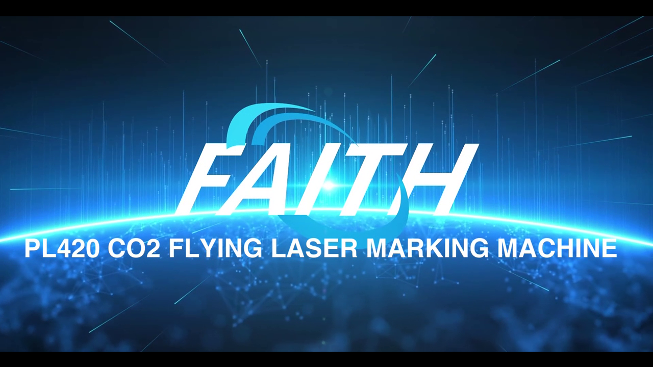 PL420 CO2 Laser Marking Machine On Production Line For Plastic Bottles Glass| Faith