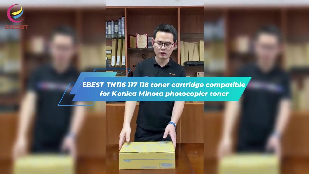 EBEST TN116 117 118 Cartridge Toner Kompatibel untuk Konica Minota Photocopier Toner