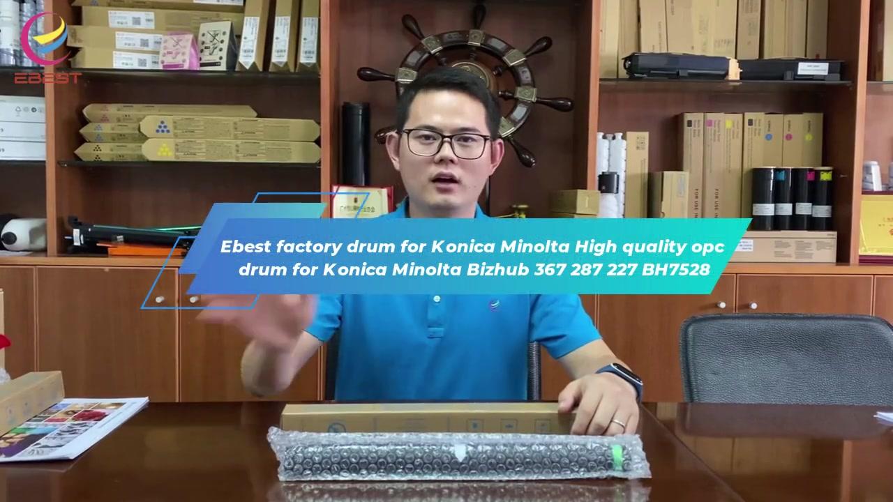 طبل مصنع Ebest ل Konica Minolta جودة عالية OPC طبل ل Konica مينولتا Bizhub 367 287 227 BH7528