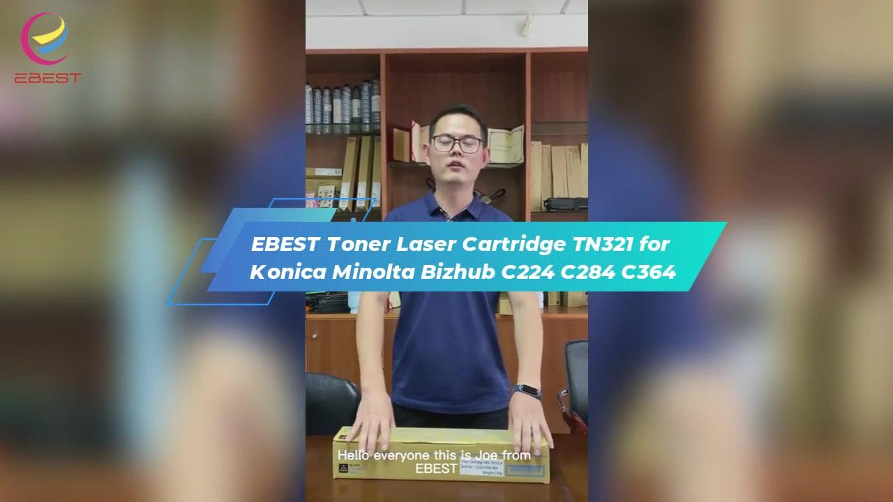 Kartrid Laser Toner Ebest TN321 untuk KONICA MINOLTA BIZHUB C224 C284 C364