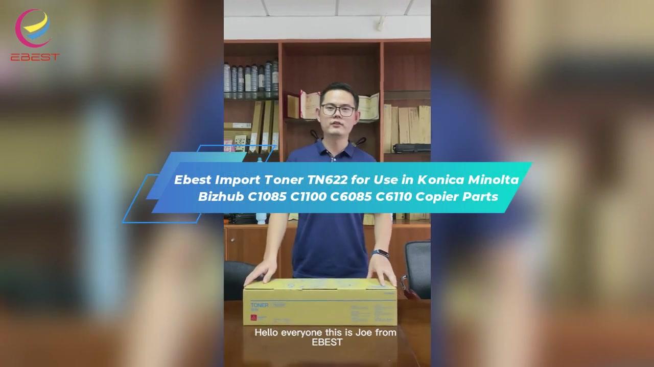 Ebest Import Toner TN622 untuk digunakan di KONICA MINOLTA BIZHUB C1085 C1100 C6085 C6110 Suku Copier