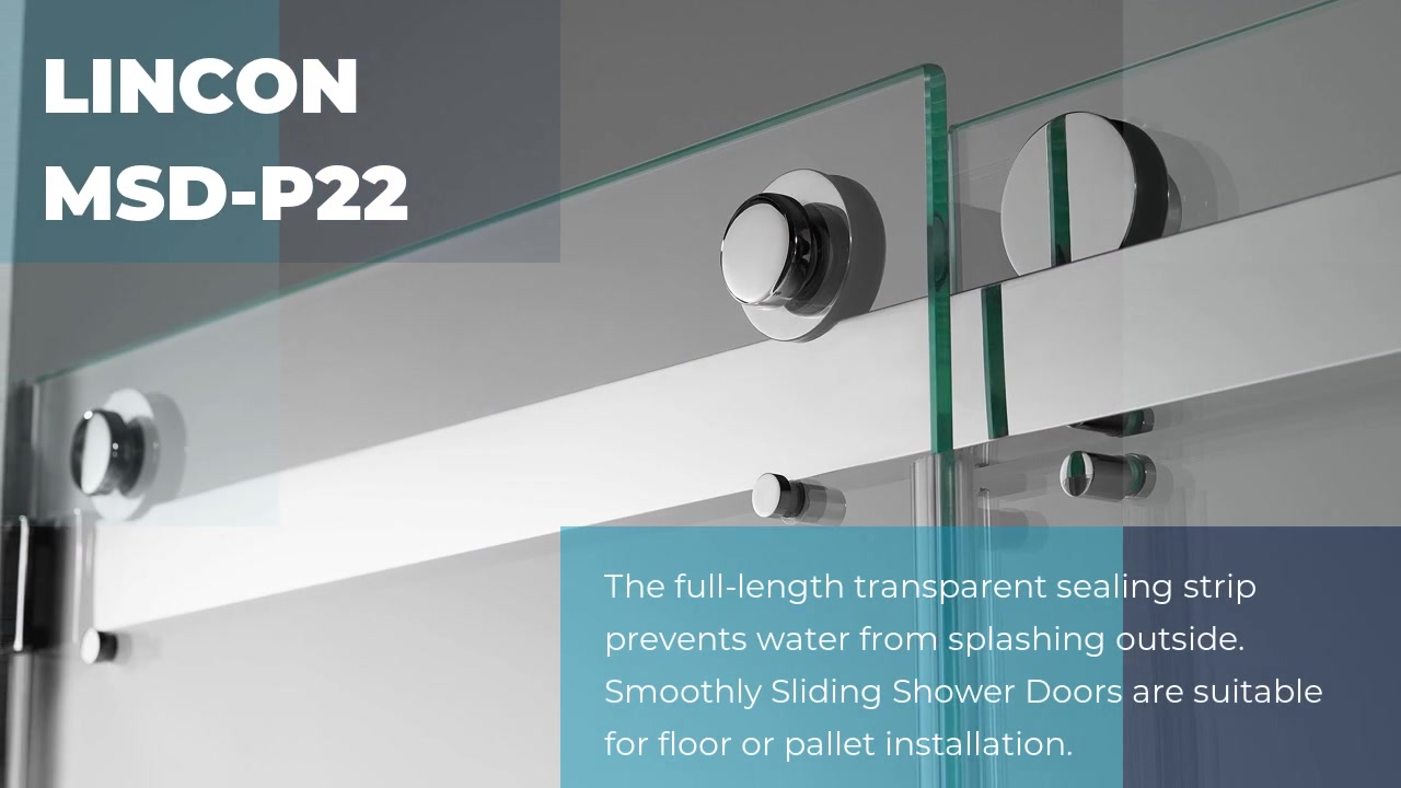 High quality best frameless shower doors LINCON MSD-P22 wholesale