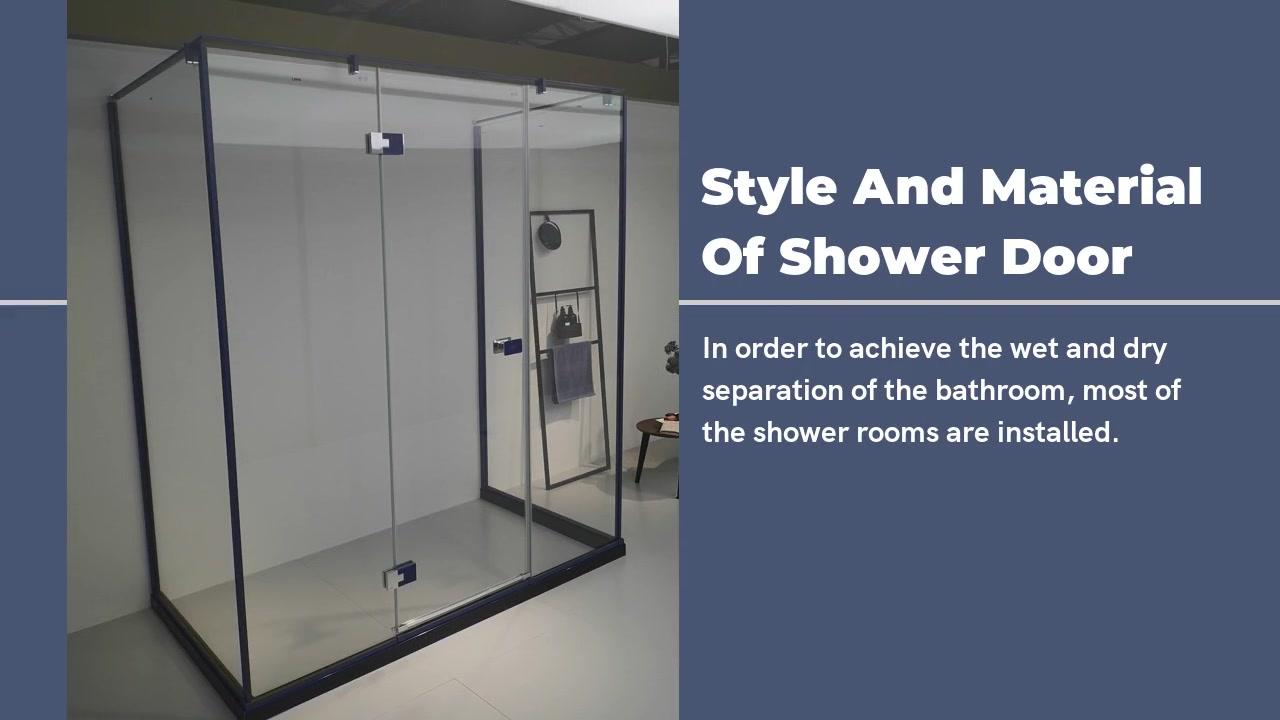 Estilo e material da porta do chuveiro moderno