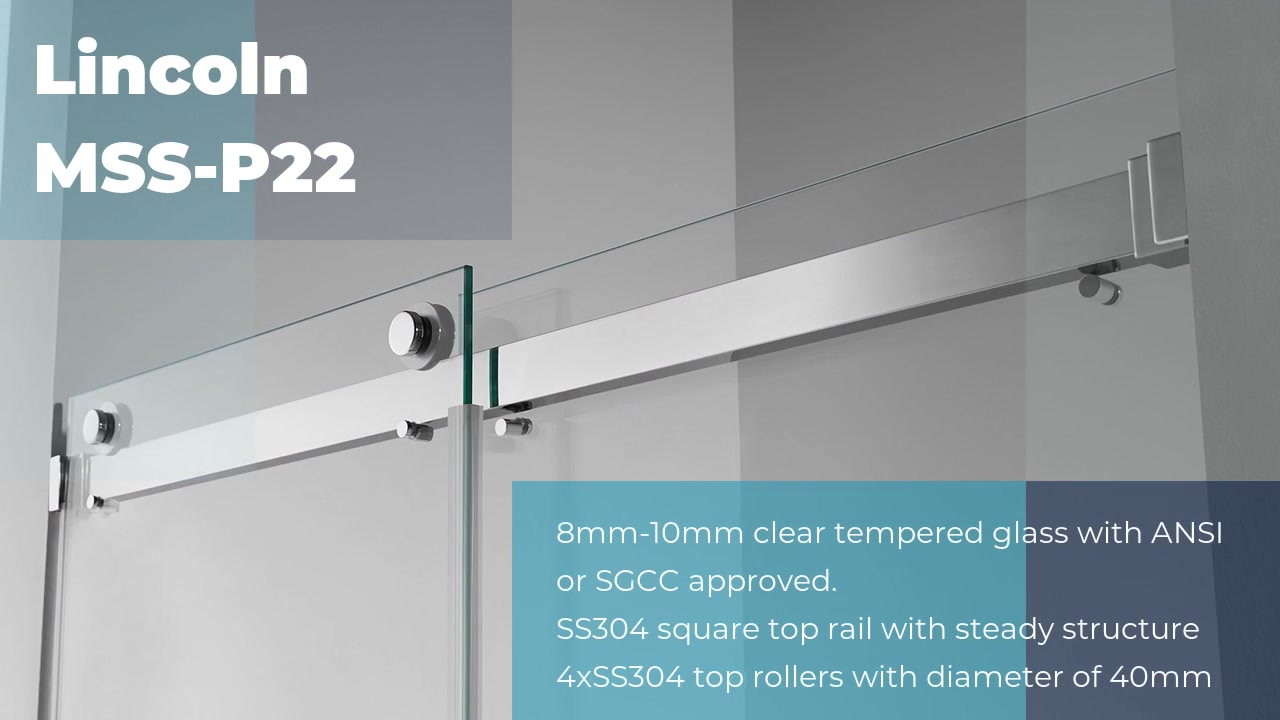Professional aluminium shower doors Lincoln MSS-P22