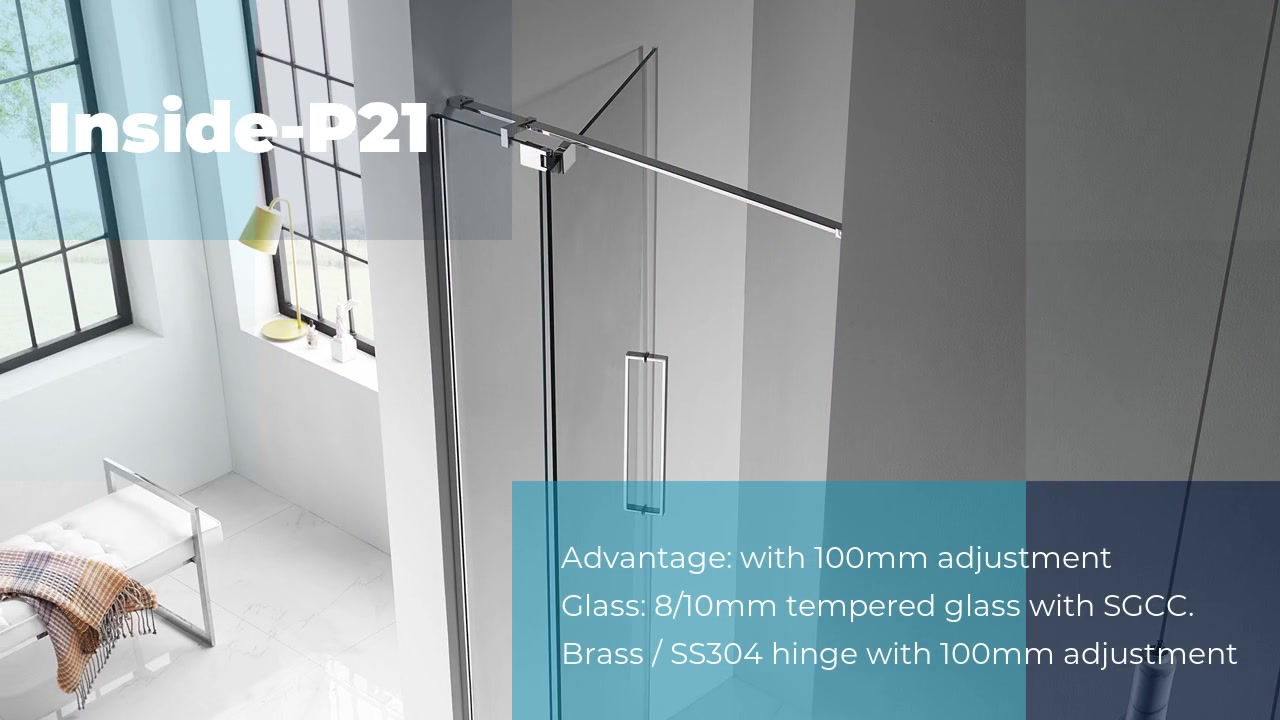 China custom frameless shower doors Inside-P21